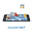 online delivery concept and shopping online vector image vector image