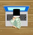Online salary or compensation cash banknote