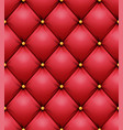 quilted pattern red leather upholstery vector image vector image
