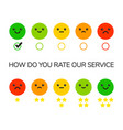 rating feedback scale vector image vector image