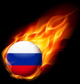 Round glossy icon of russian federation vector image vector image