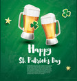 saint patricks day festive banner with two vector image vector image