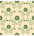 seamless background with twigs and flowers vector image vector image