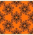 Seamless elegant Ornamental stylized flower vector image vector image