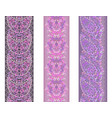 seamless vertical ethnic paisley border-set vector image vector image