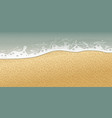 seashore or sea wave with close up view and sand vector image vector image