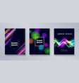 set of multicolored modern backgrounds vector image