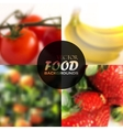 set realistic food backgrounds with tomatoes vector image vector image