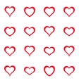 simple red heart icons collection vector image