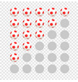 soccer balls rating template isolated on vector image vector image
