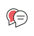 speech bubbles message social media icon line and vector image