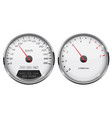 speedometer and tachometer white gauge with metal vector image vector image