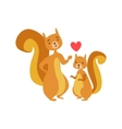 Squirrel Dad Animal Parent And Its Baby Calf vector image vector image