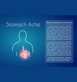 stomach ache blue background vector image