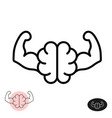 strong brain concept line style brain showing vector image vector image