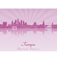 Tampa skyline in purple radiant orchid vector image vector image
