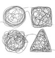 tangle scrawl sketch set doodle drawing vector image