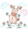 teddy deer love - cartoon funny vector image vector image