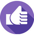 thumb up on a colored circle vector image
