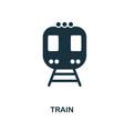 train icon in flat style icon design vector image vector image
