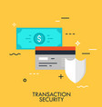 transaction sequrity flat concept vector image vector image