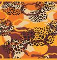 Tribal ethnic seamless pattern with animal print
