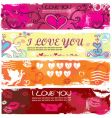 valentine grunge banners vector image