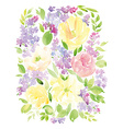Vintage floral background printing Watercolor vector image vector image