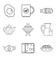 wad icons set outline style vector image vector image