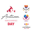 world autism day isolated icons disability vector image