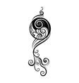 Ying yang decorative symbol vector image vector image