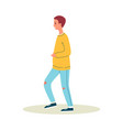 young man street pedestrian in casual wear flat vector image