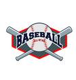sport baseball background image vector image