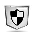 protection security symbol shield steel icon vector image
