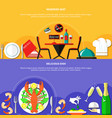 restaurant dishes banners set vector image
