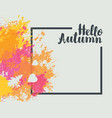 autumn banner with bright abstract spots vector image vector image