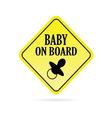 baby on board rhombus vector image vector image