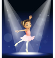 Ballerina Stage Performance vector image vector image