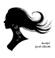 beautiful female silhouette vector image vector image