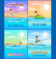 best summer time collection vector image vector image