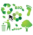 Bio eco icon symbols vector image