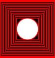black red square and circle vector image vector image