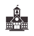 Black silhouette high school structure with flag vector image