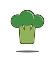 broccoli raw modern flat style cartoon vector image vector image