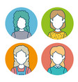 character set avatar icon vector image
