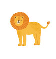 childish cute lion in simple scandinavian vector image vector image