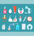children care collection items vector image