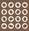 coffee beans icon set in coffee signs vector image vector image