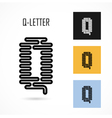 Creative Q - letter icon abstract logo design vector image