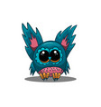 cute owl in cartoon style vector image